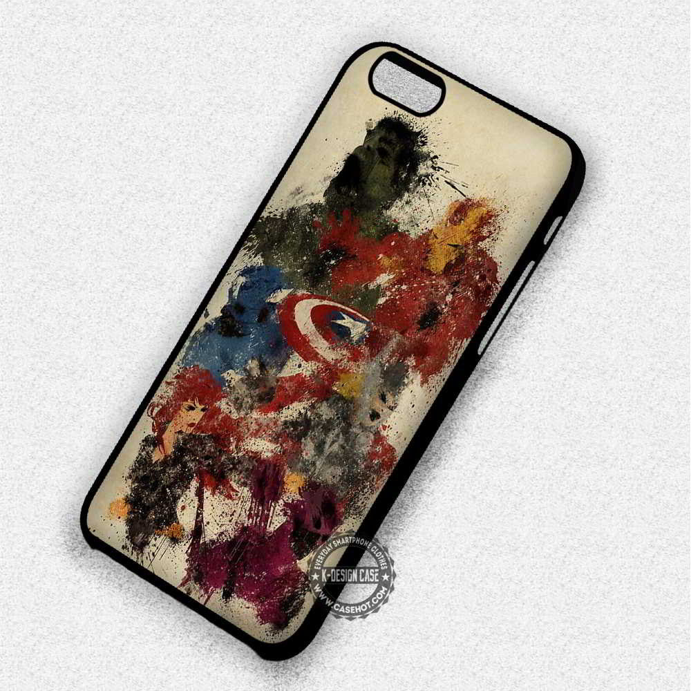 Superheroes Painting Art Marvel - iPhone 7 6 Plus 5c 5s SE Cases & Covers - Kawung Design  - 1
