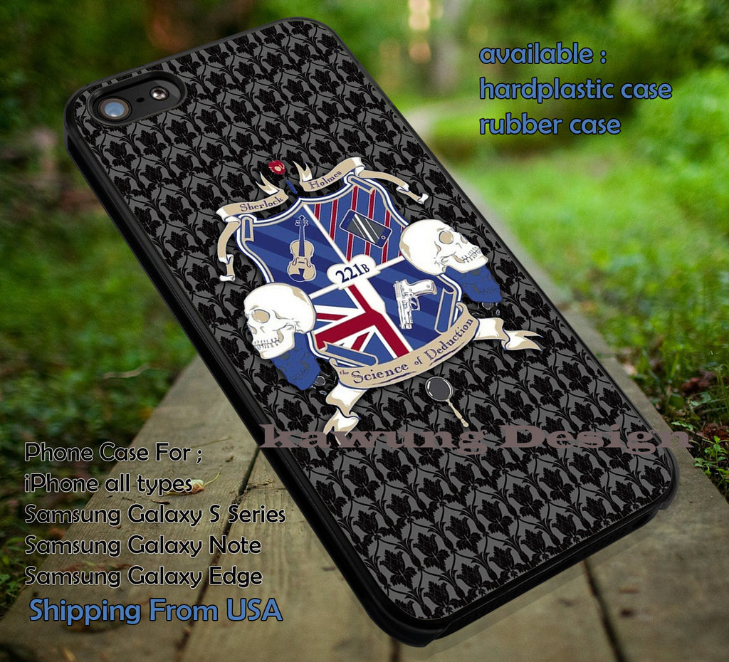 BBC Sherlock Holmes iPhone X 8+ 7 6s Cases Samsung Galaxy S8 S7 edge NOTE 8 5 4