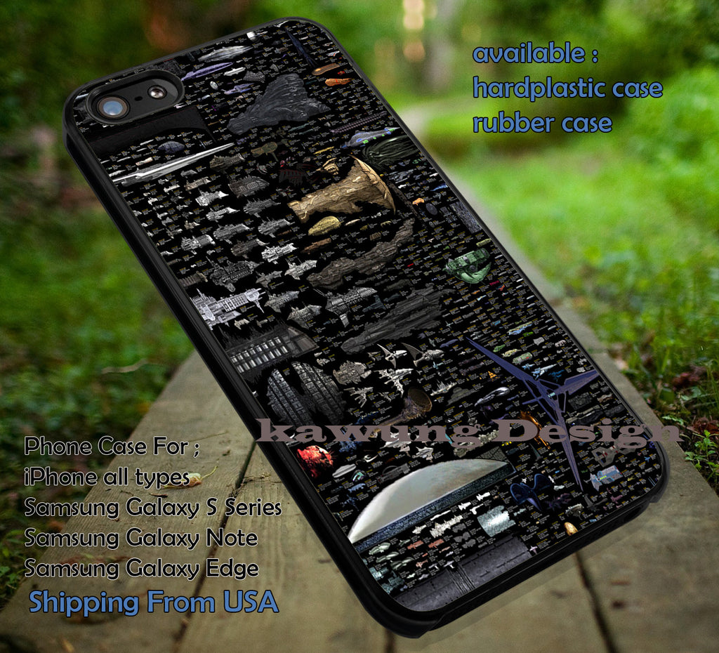 Copy of Size Comparison Science Fiction Spaceships iPhone 6s 6 6s+ 5c 5s Cases Samsung Galaxy s5 s6 Edge+ NOTE 5 4 3 #movie #starwars dt - Kawung Design  - 1