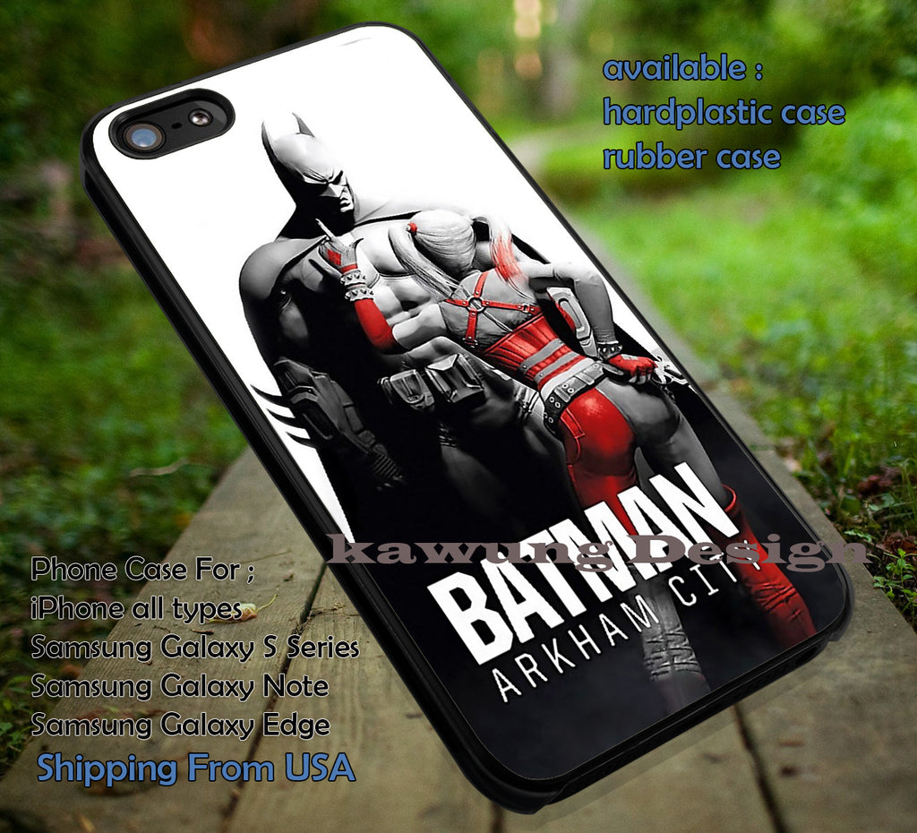Batman Harley Quinn Arkham City iPhone 6s 6 6s+ 5c 5s Cases Samsung Galaxy s5 s6 Edge+ NOTE 5 4 3 #cartoon #batman #superheroes dt - Kawung Design  - 1