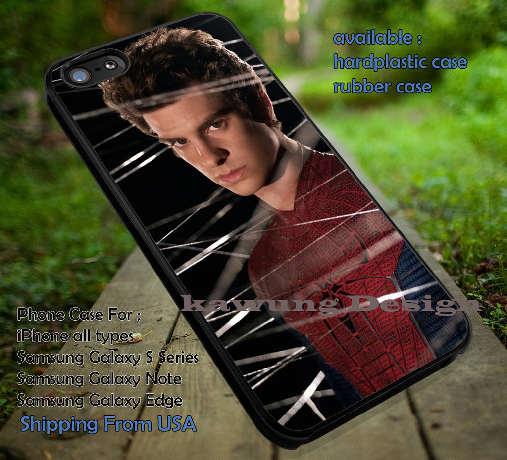 Amazing Spider Man Peter Parker Andrew Garfield iPhone 6s 6 6s+ 5c 5s Cases Samsung Galaxy s5 s6 Edge+ NOTE 5 4 3 #movie #disney #animated #marvel #comic #spiderman dt - Kawung Design  - 1