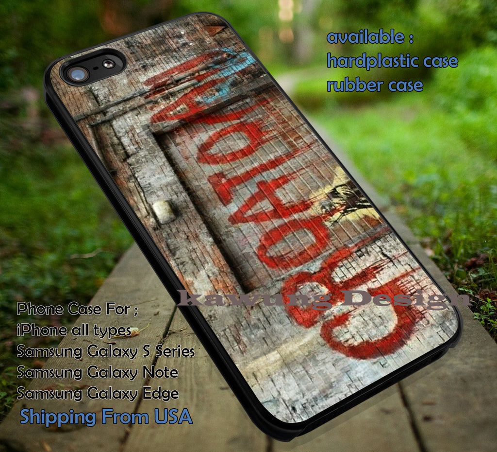 Croatoan Graffiti at The Wall iPhone 6s 6 6s+ 5c 5s Cases Samsung Galaxy s5 s6 Edge+ NOTE 5 4 3 #art dt - Kawung Design  - 1