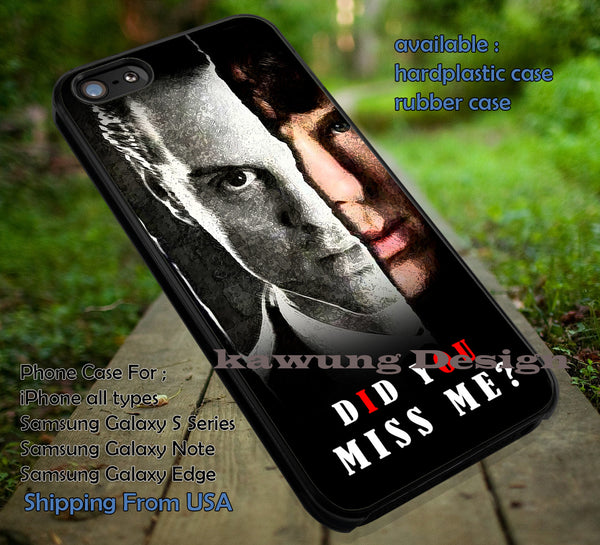 Did You Miss Me Quote Moriarty iPhone 6s 6 6s+ 5c 5s 4s Cases Samsung Galaxy s3 s4 s5 s6 Edge+ NOTE 5 4 3 2 Covers #movie #supernatural #superwholock #sherlock #doctorWho dt - Kawung Design  - 1