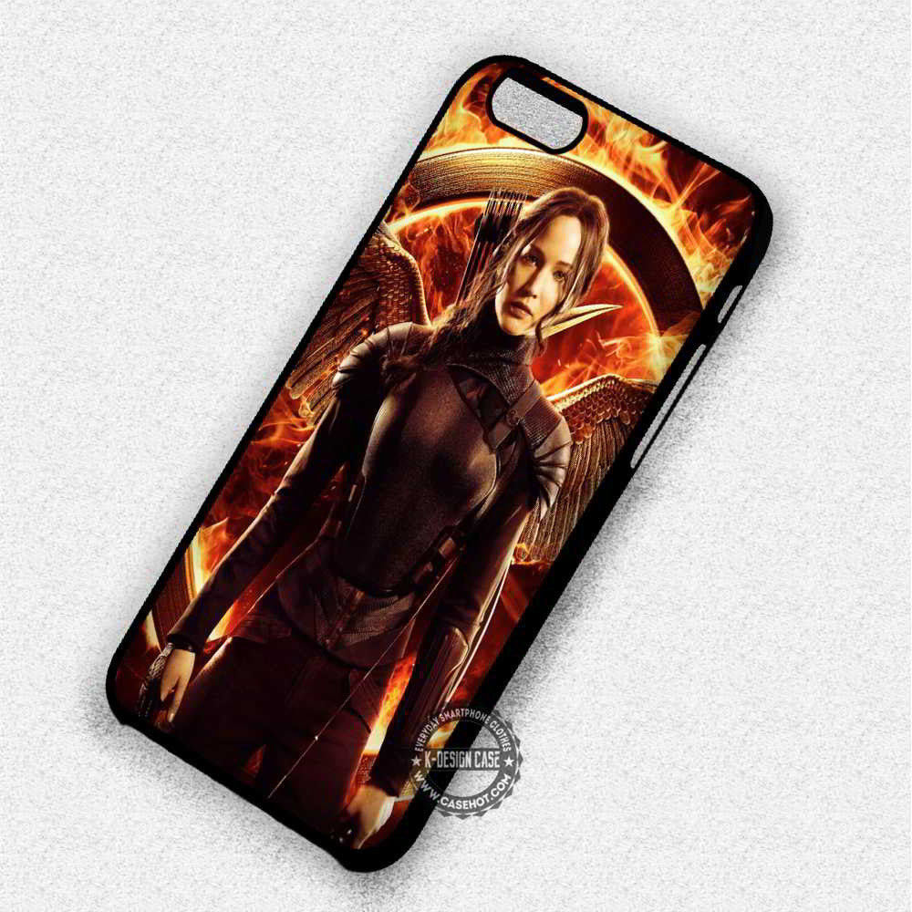 The Hunger Mocking Jay Katniss Everdeen - iPhone 7 6 Plus 5c 5s SE Cases & Covers - Kawung Design  - 1