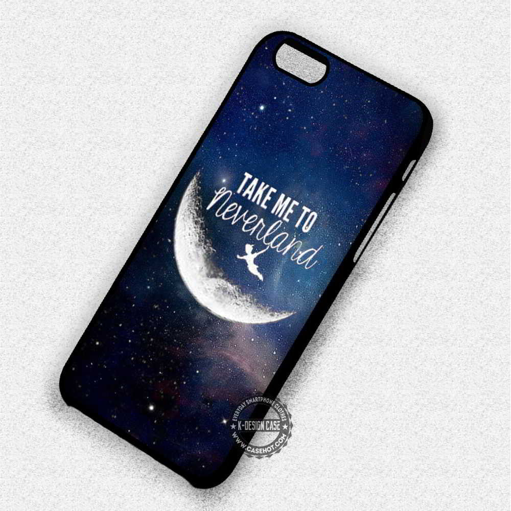 Take Me to Neverland Peter Pan Quote - iPhone 7 6 Plus 5c 5s SE Cases & Covers - Kawung Design  - 1
