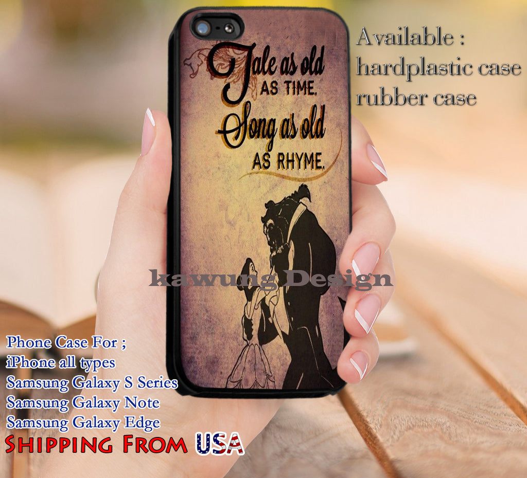 Tale As Old As Time Beauty And The Beast Quotes Iphone 8 7 6s Cases