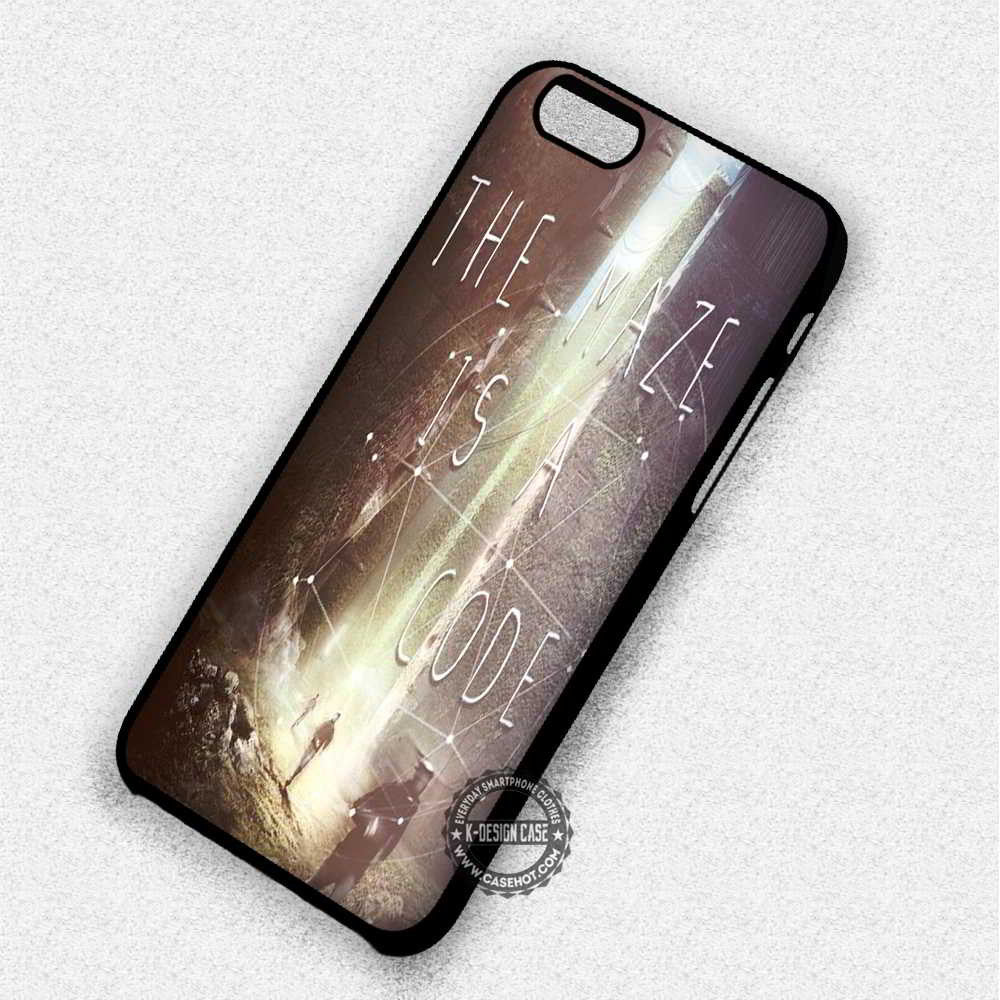 The Maze Is A Code Quote - iPhone 7 6 Plus 5c 5s SE Cases & Covers - Kawung Design  - 1
