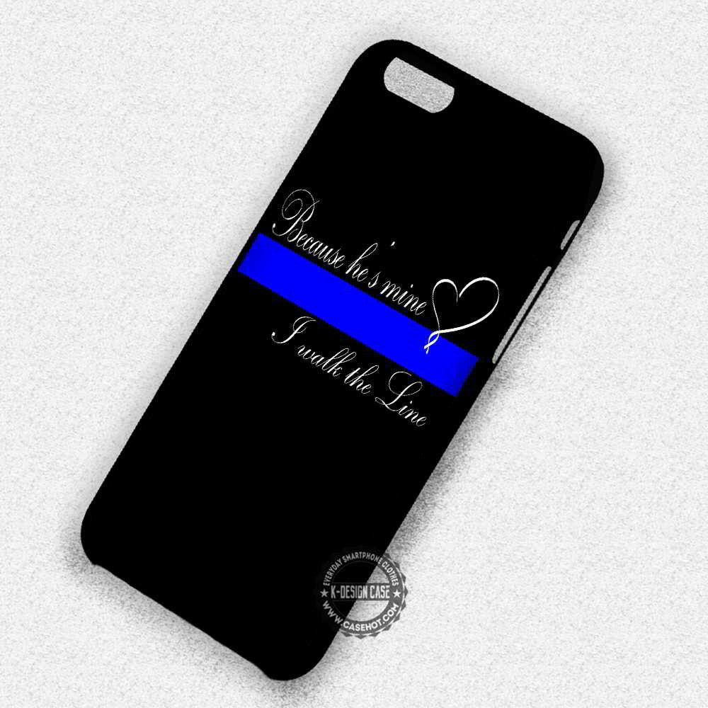 reputable site 14b2c 1a610 Thin Blue Line Heart Quote - iPhone 7 6 Plus 5c 5s SE Cases & Covers