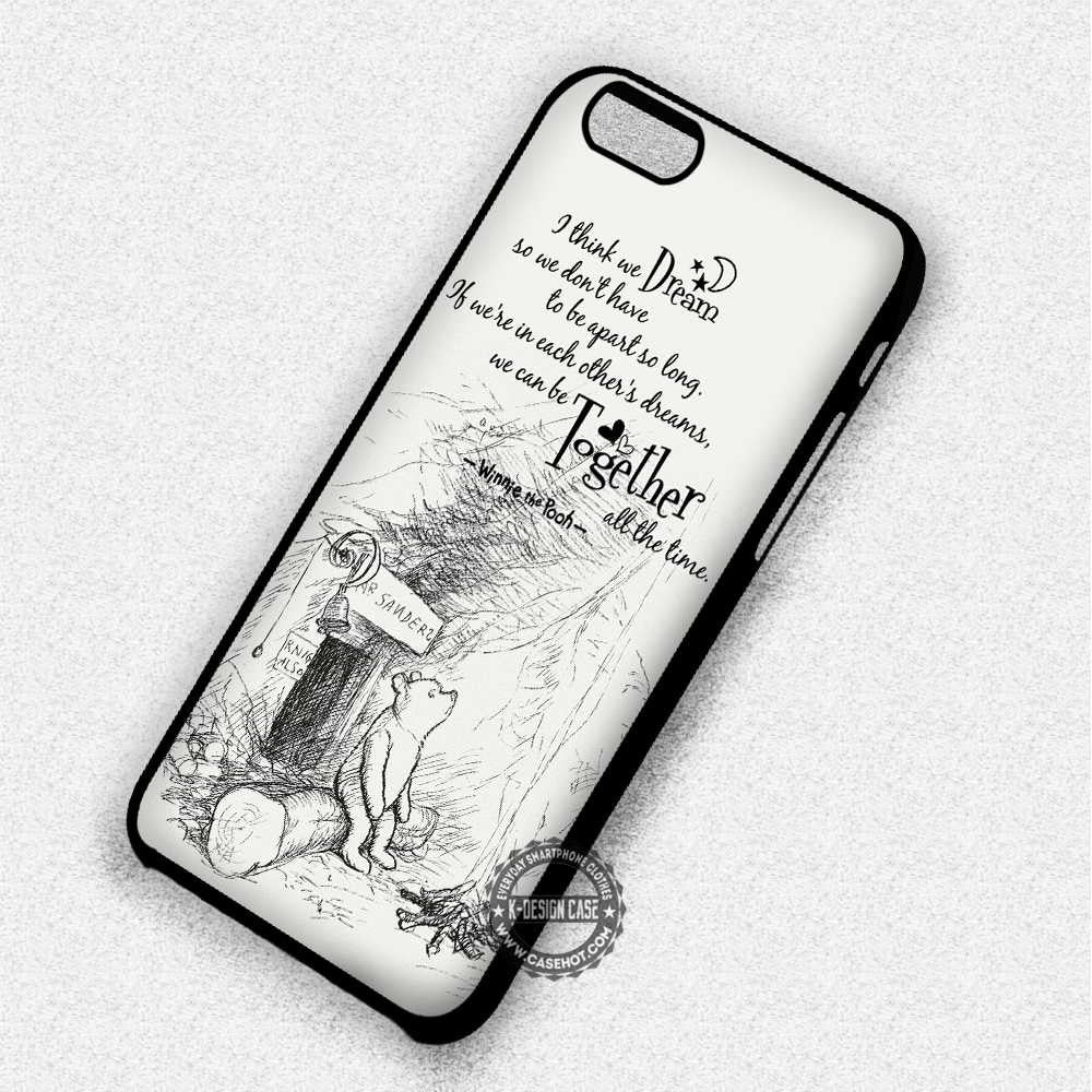 Together All The Time Winnie The Pooh Disney Quote - iPhone 7 6 Plus 5c 5s SE Cases & Covers - Kawung Design  - 1