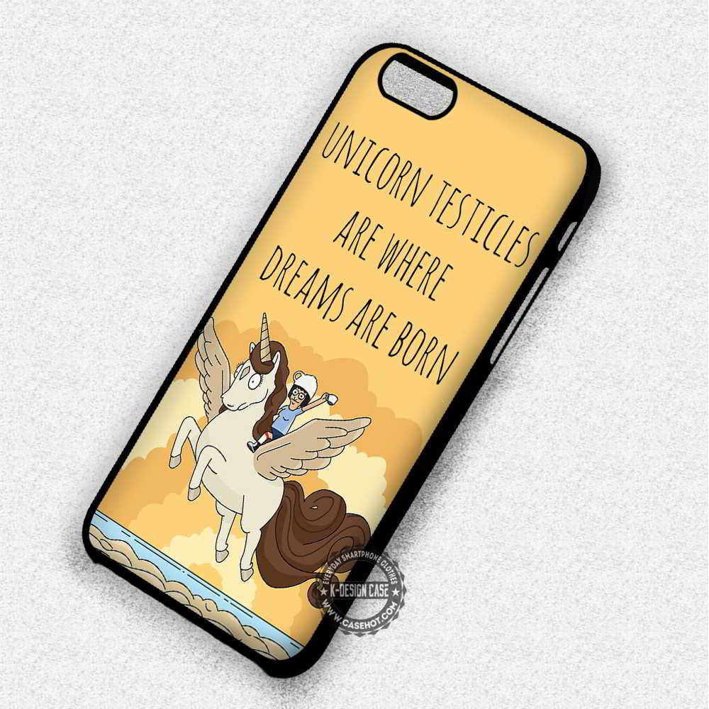 Unicorn Testicles Tina Belcher Quote - iPhone 7 6 Plus 5c 5s SE Cases & Covers - Kawung Design  - 1