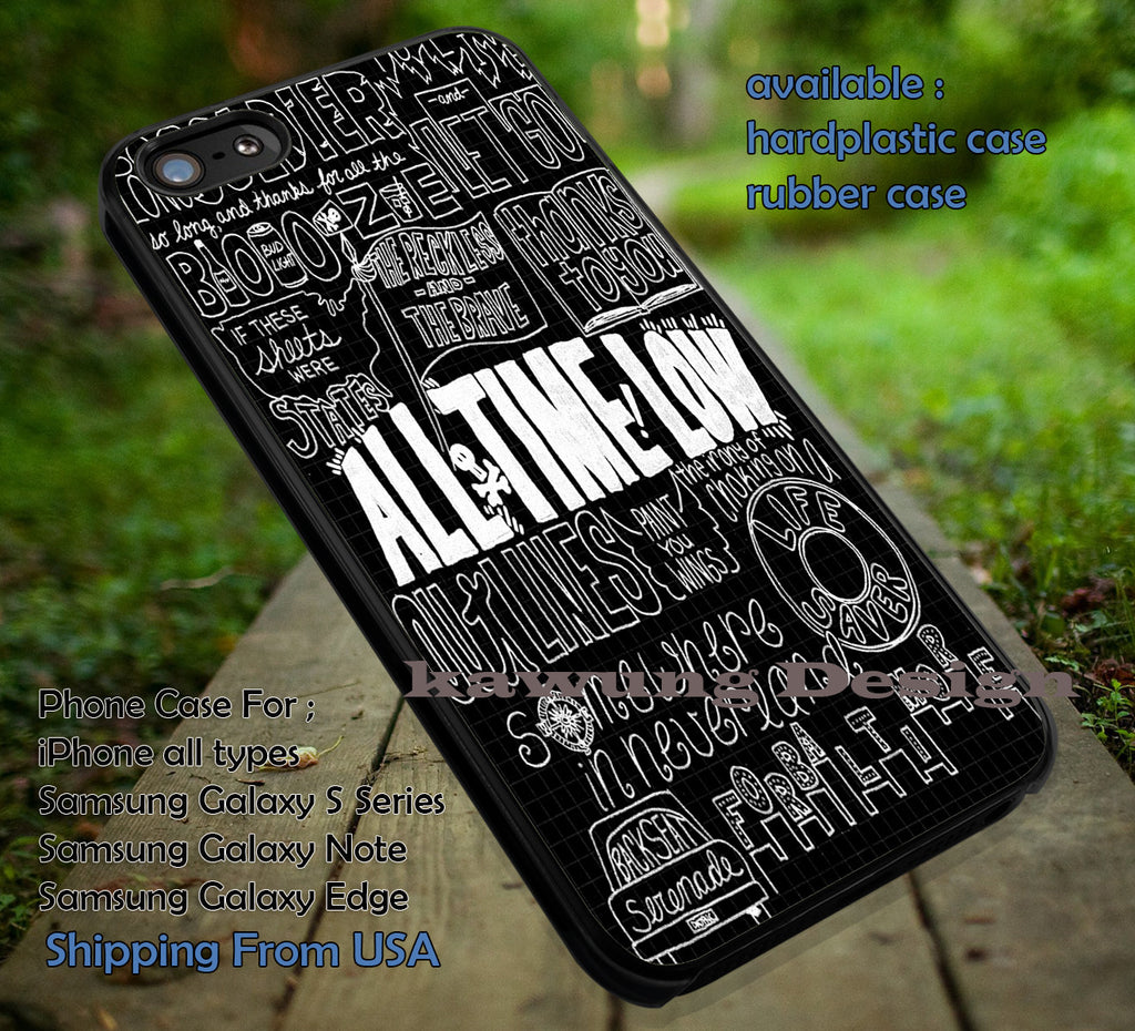 All Time Low Songs Title Quote Art iPhone 6s 6 6s+ 5c 5s Cases Samsung Galaxy s5 s6 Edge+ NOTE 5 4 3 #music #atl dt - Kawung Design  - 1