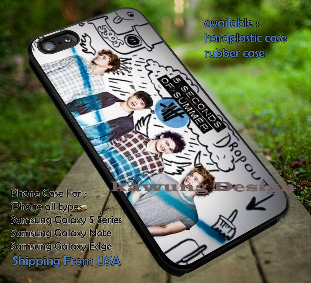 5 Seconds of Summer Blue Logo iPhone 6s 6 6s+ 5c 5s Cases Samsung Galaxy s5 s6 Edge+ NOTE 5 4 3 #music #5sos dt - K-Designs