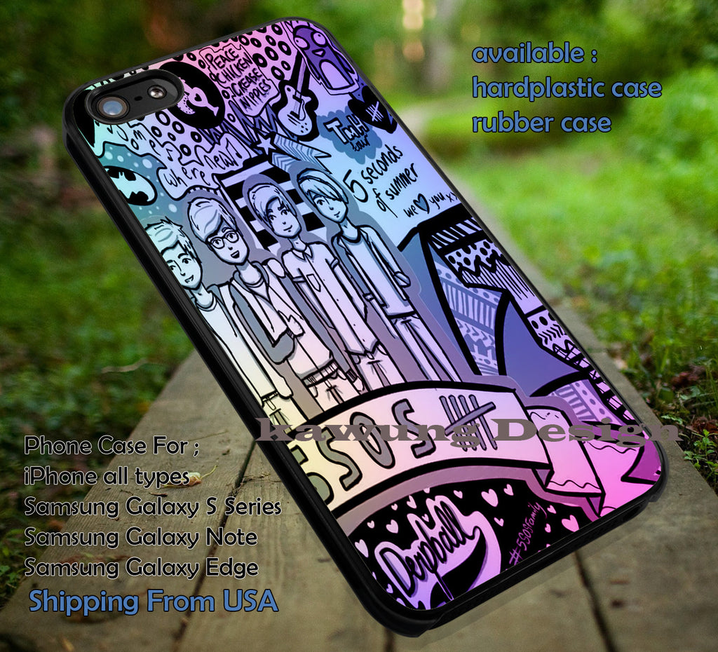 5 Seconds of Summer Colorful Collage Art iPhone 6s 6 6s+ 5c 5s Cases Samsung Galaxy s5 s6 Edge+ NOTE 5 4 3 #music #5sos dt - K-Designs