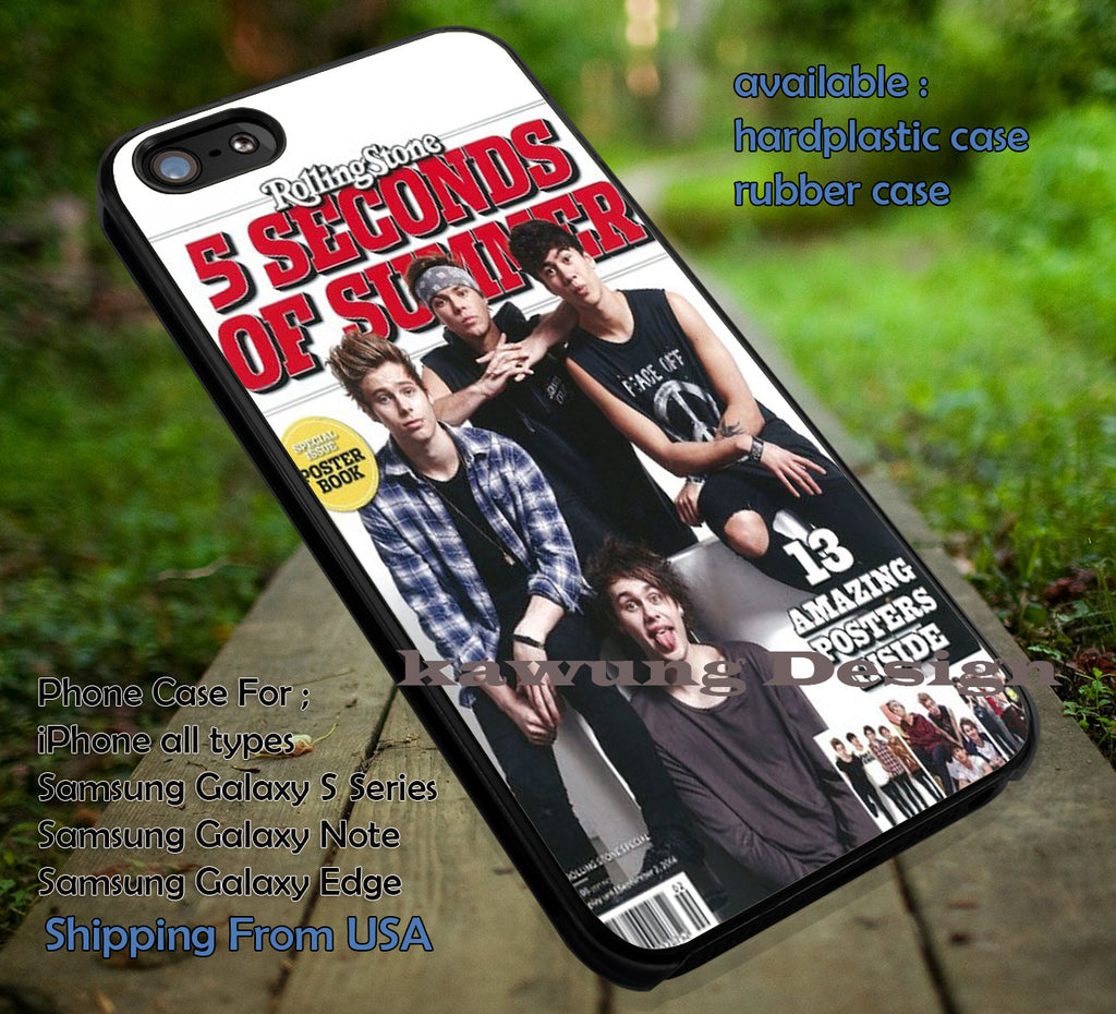 5 Seconds of Summer in Rolling Stone Magz Cover iPhone 6s 6 6s+ 5c 5s Cases Samsung Galaxy s5 s6 Edge+ NOTE 5 4 3 #music #5sos dt - K-Designs