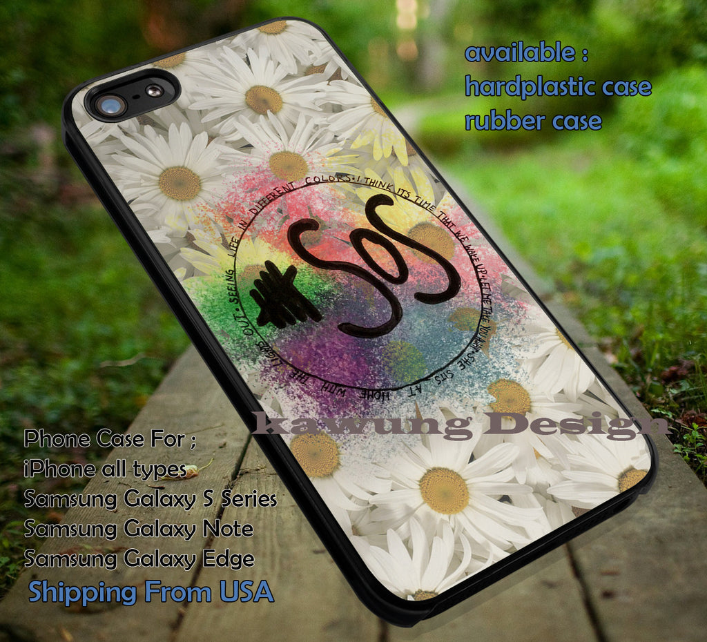 5 Seconds of Summer Logo Brush Paint Flower iPhone 6s 6 6s+ 5c 5s Cases Samsung Galaxy s5 s6 Edge+ NOTE 5 4 3 #music #5sos dt - K-Designs