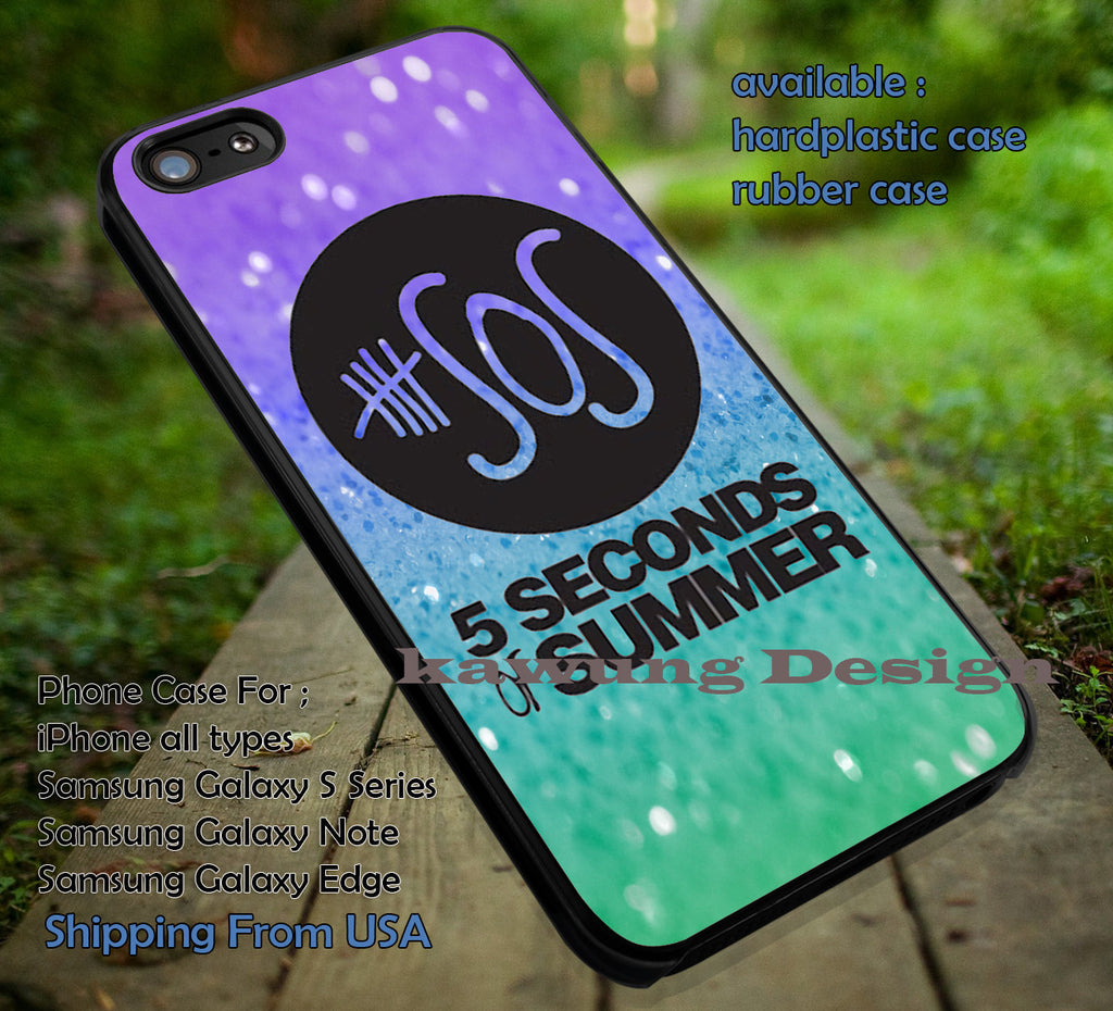 5 Seconds of Summer Logo Glitter iPhone 6s 6 6s+ 5c 5s Cases Samsung Galaxy s5 s6 Edge+ NOTE 5 4 3 #music #5sos dt - K-Designs