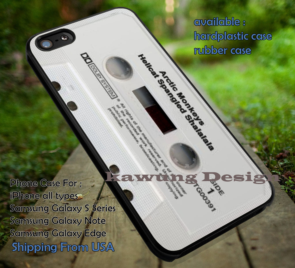 Arctic Monkeys Hellcat Spangled Shalalala Retro Cassette iPhone 6s 6 6s+ 5c 5s Cases Samsung Galaxy s5 s6 Edge+ NOTE 5 4 3 #music #arc dt - Kawung Design  - 1