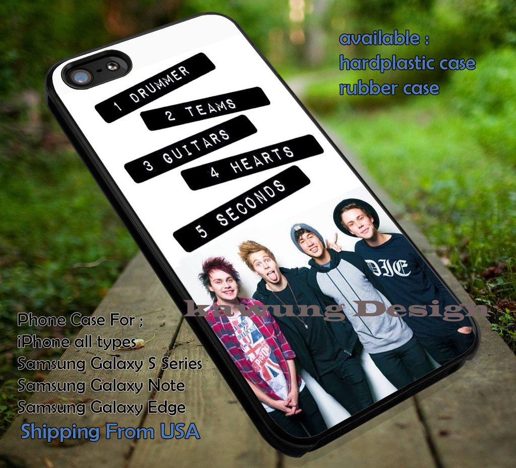 5 Seconds of Summer Member with Quote iPhone 6s 6 6s+ 5c 5s Cases Samsung Galaxy s5 s6 Edge+ NOTE 5 4 3 #music #5sos dt - K-Designs