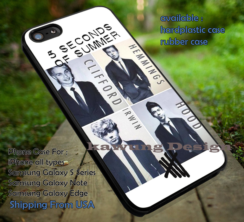 5 Seconds of Summer Members in Suit iPhone 6s 6 6s+ 5c 5s Cases Samsung Galaxy s5 s6 Edge+ NOTE 5 4 3 #music #5sos dt - K-Designs