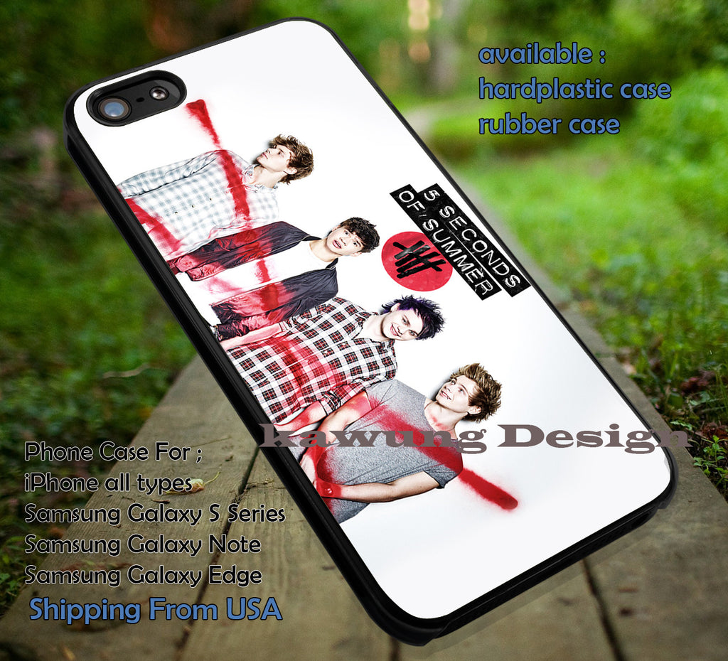 5 Seconds of Summer Michael Clifford Don't Stop Red Logo iPhone 6s 6 6s+ 5c 5s Cases Samsung Galaxy s5 s6 Edge+ NOTE 5 4 3 #music #5sos dt - K-Designs