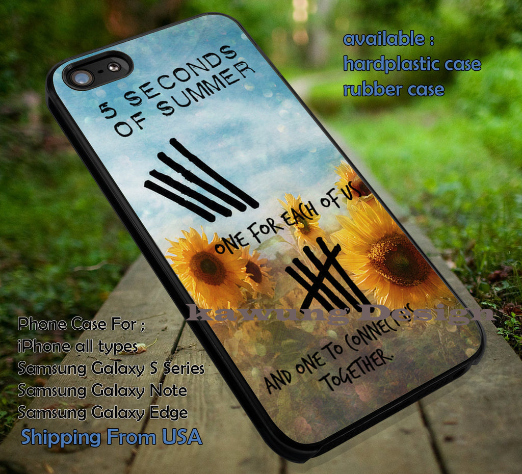5 Seconds of Summer Quote with Flower Background iPhone 6s 6 6s+ 5c 5s Cases Samsung Galaxy s5 s6 Edge+ NOTE 5 4 3 #music #5sos dt - K-Designs