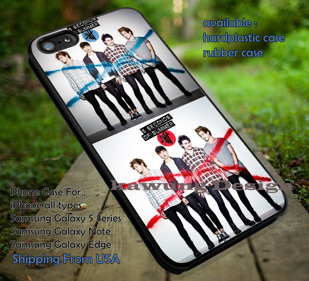 5 Seconds of Summer Red and Blue Logo Collage iPhone 6s 6 6s+ 5c 5s Cases Samsung Galaxy s5 s6 Edge+ NOTE 5 4 3 #music #5sos dt - K-Designs