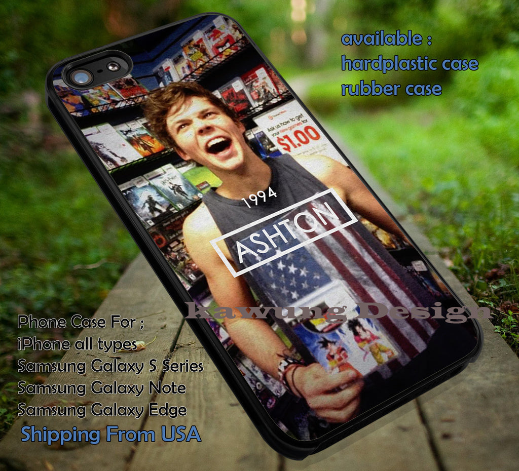 Ashton Irwin with Dragon Ball DVD iPhone 6s 6 6s+ 5c 5s Cases Samsung Galaxy s5 s6 Edge+ NOTE 5 4 3 #music #5sos dt - Kawung Design  - 1
