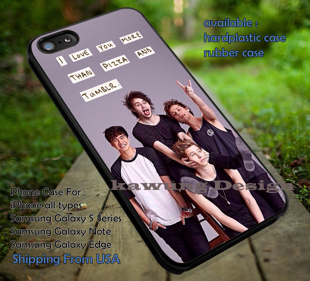 5 Seconds of Summer I Love You More Than Pizza Quote iPhone 6s 6 6s+ 5c 5s Cases Samsung Galaxy s5 s6 Edge+ NOTE 5 4 3 #music #5sos dt - K-Designs