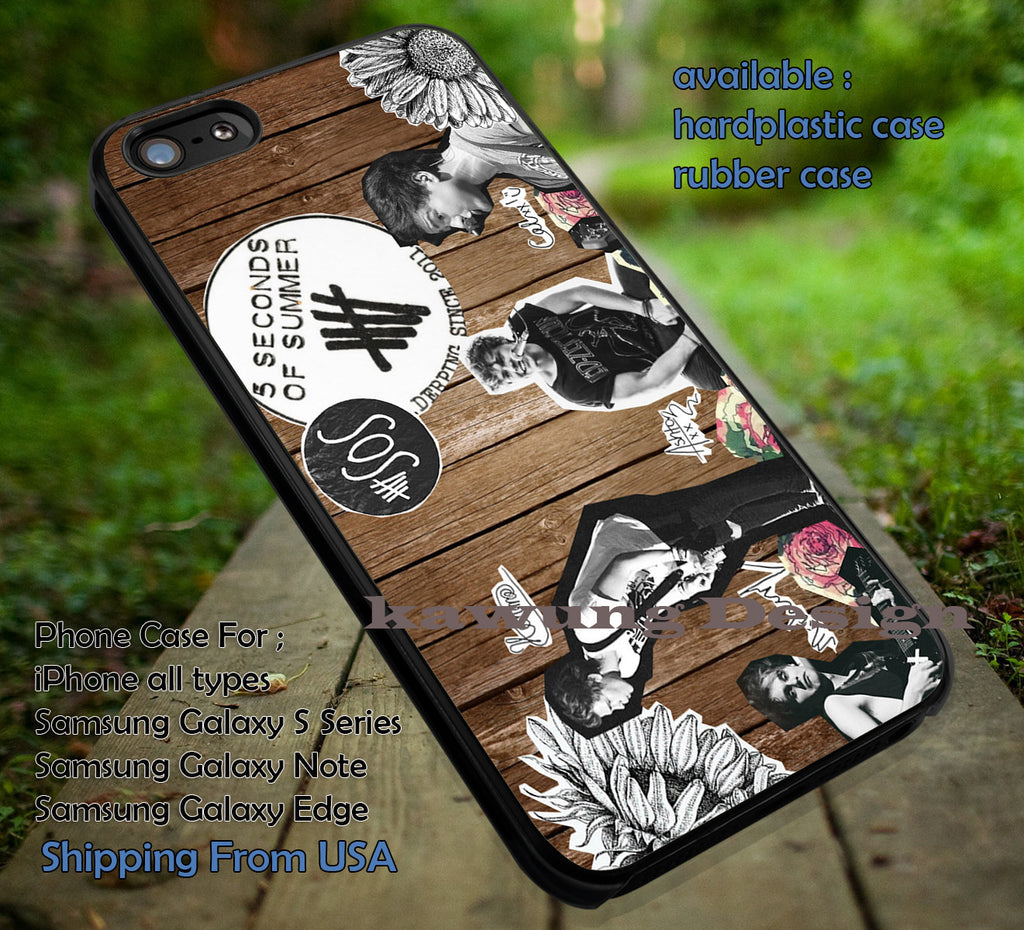5 Seconds Of Summer Popular Band iPhone 6s 6 6s+ 5c 5s Cases Samsung Galaxy s5 s6 Edge+ NOTE 5 4 3 #music #5sos dt - K-Designs