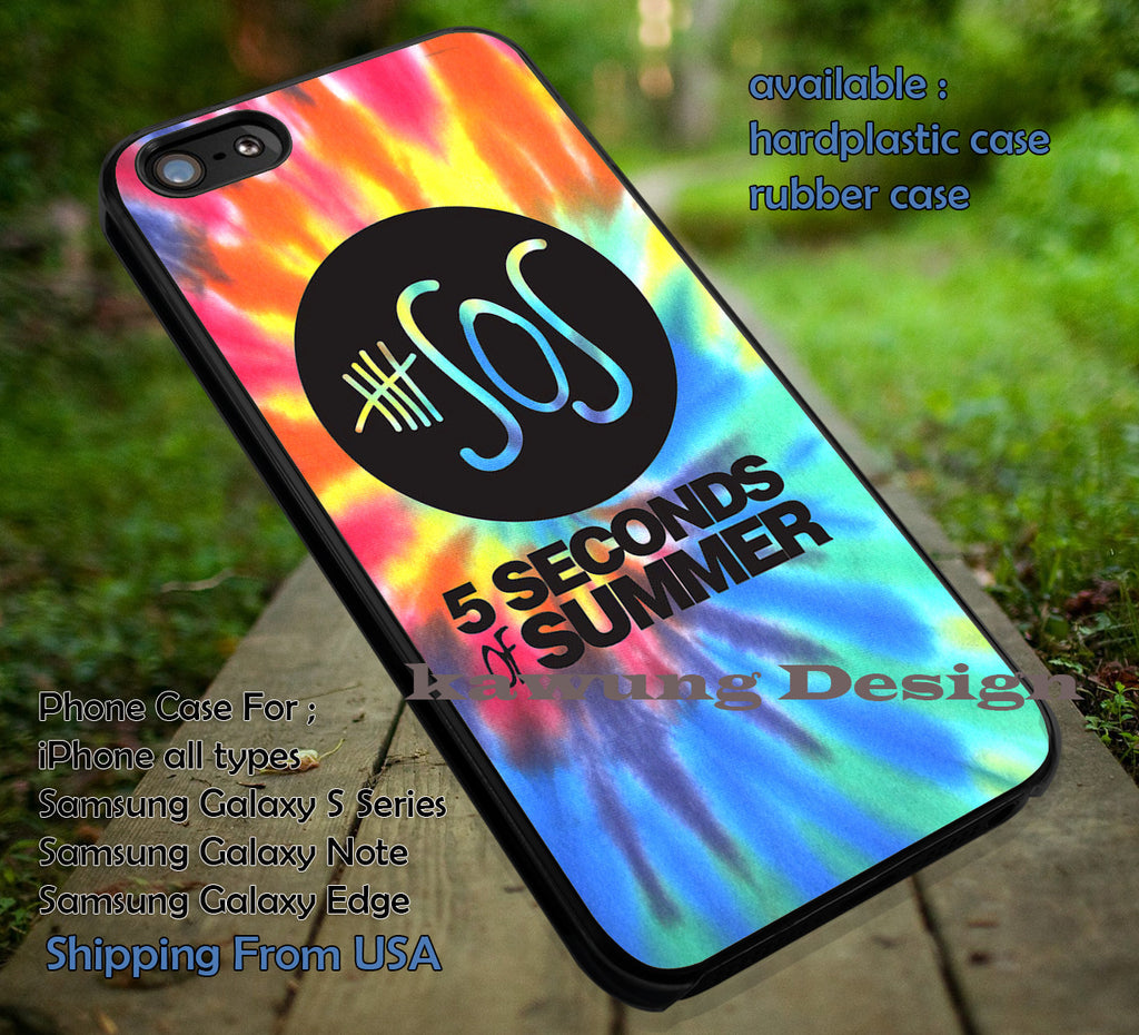 5 Seconds of Summer Logo Tye Dye iPhone 6s 6 6s+ 5c 5s Cases Samsung Galaxy s5 s6 Edge+ NOTE 5 4 3 #music #5sos dt - K-Designs