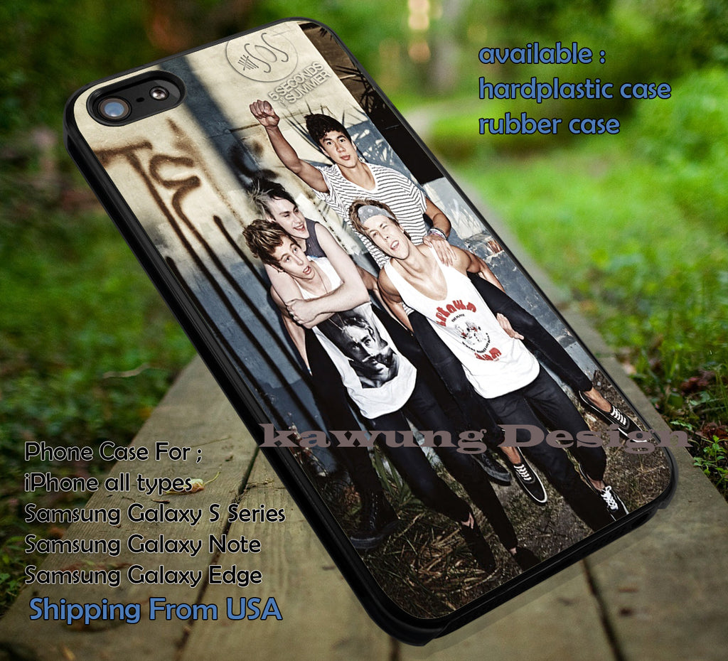 5 Seconds Of Summer iPhone 8+ 7 6s Cases Samsung Galaxy S8 S7 edge NOTE 8 5 4