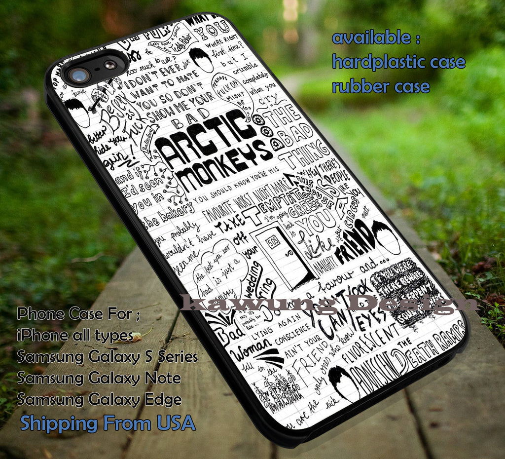 Arctic Monkeys Quote Art iPhone 6s 6 6s+ 5c 5s Cases Samsung Galaxy s5 s6 Edge+ NOTE 5 4 3 #music #arc dt - Kawung Design  - 1