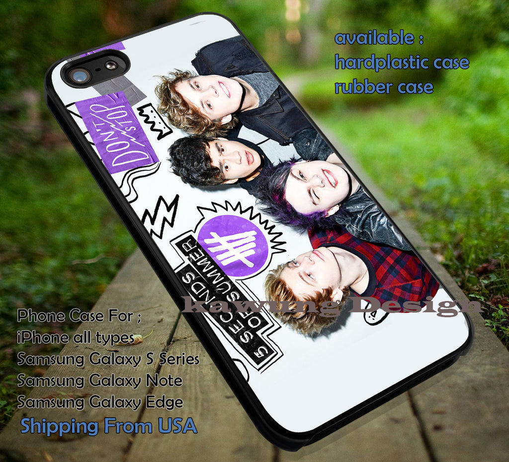 5 Seconds of Summer Don't Stop 5 Cover Ver2 iPhone 6s 6 6s+ 5c 5s Cases Samsung Galaxy s5 s6 Edge+ NOTE 5 4 3 #music #5sos dt - K-Designs