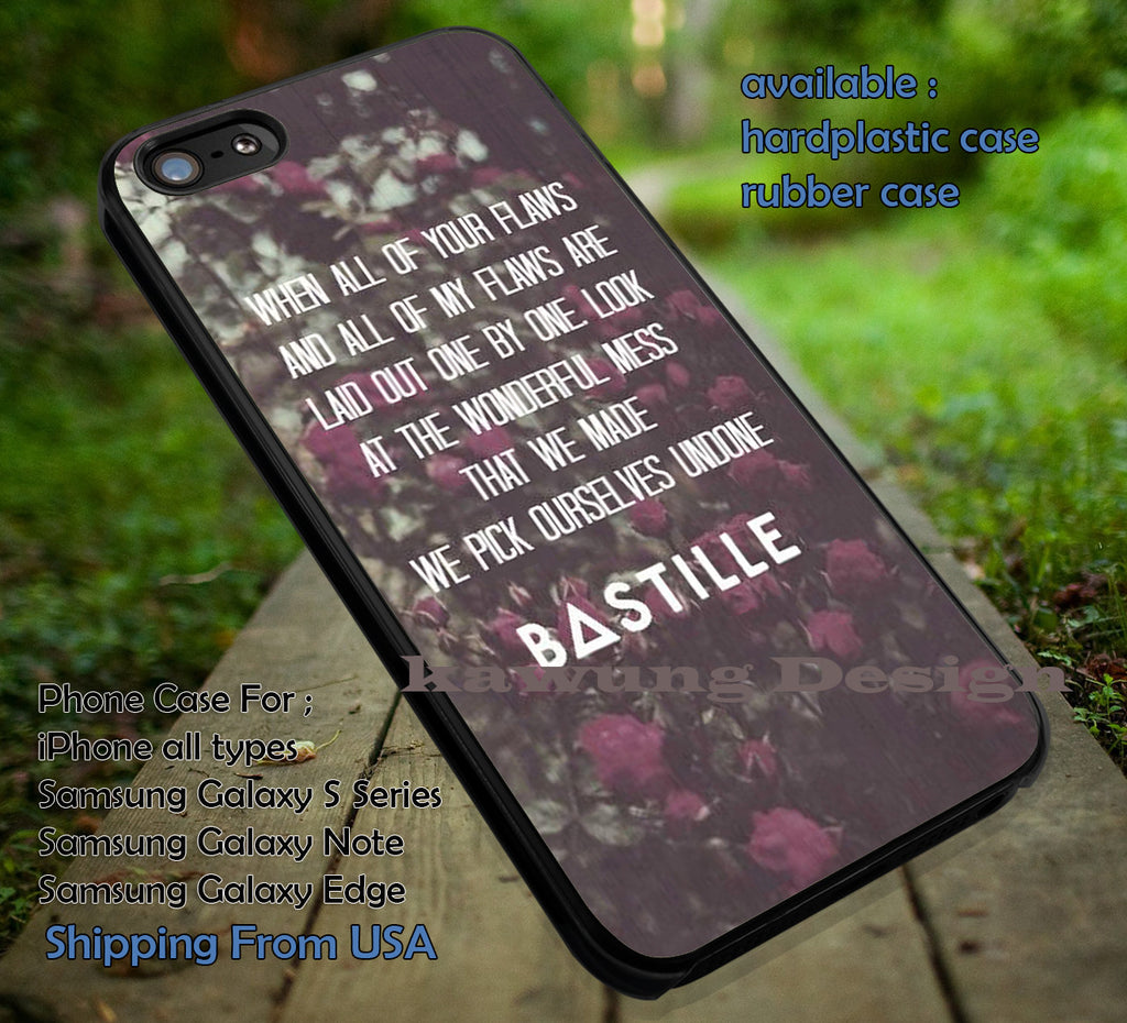 Bastille Lyric Quote Floral Retro iPhone 6s 6 6s+ 5c 5s Cases Samsung Galaxy s5 s6 Edge+ NOTE 5 4 3 #music #bst dt - Kawung Design  - 1