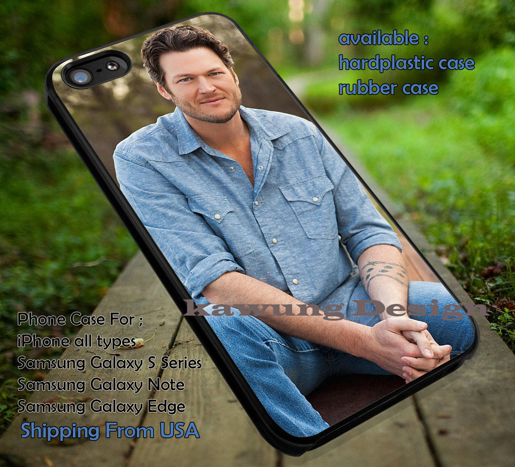 Blake Shelton Portrait iPhone 6s 6 6s+ 5c 5s Cases Samsung Galaxy s5 s6 Edge+ NOTE 5 4 3 #music #bsh dt