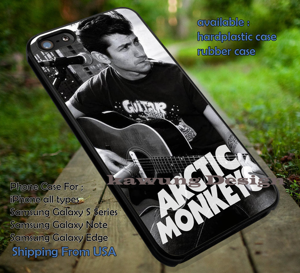 Alex Turner Smoking and Guitar iPhone 6s 6 6s+ 5c 5s Cases Samsung Galaxy s5 s6 Edge+ NOTE 5 4 3 #music #arc dt - Kawung Design  - 1