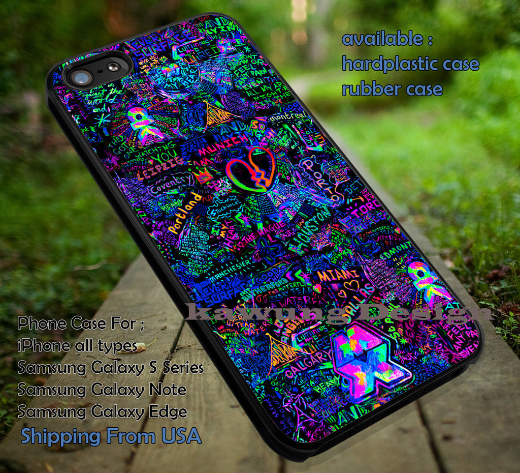 Coldplay Mylo Xyloto Live Graffiti iPhone 8+ 7 6s Cases Samsung Galaxy S8 S7 edge NOTE 8 5 4