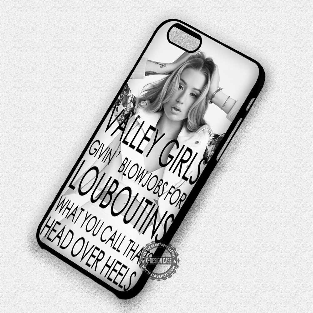 Valley Girls Iggy Azalea Quote - iPhone 7 6 Plus 5c 5s SE Cases & Covers - Kawung Design  - 1
