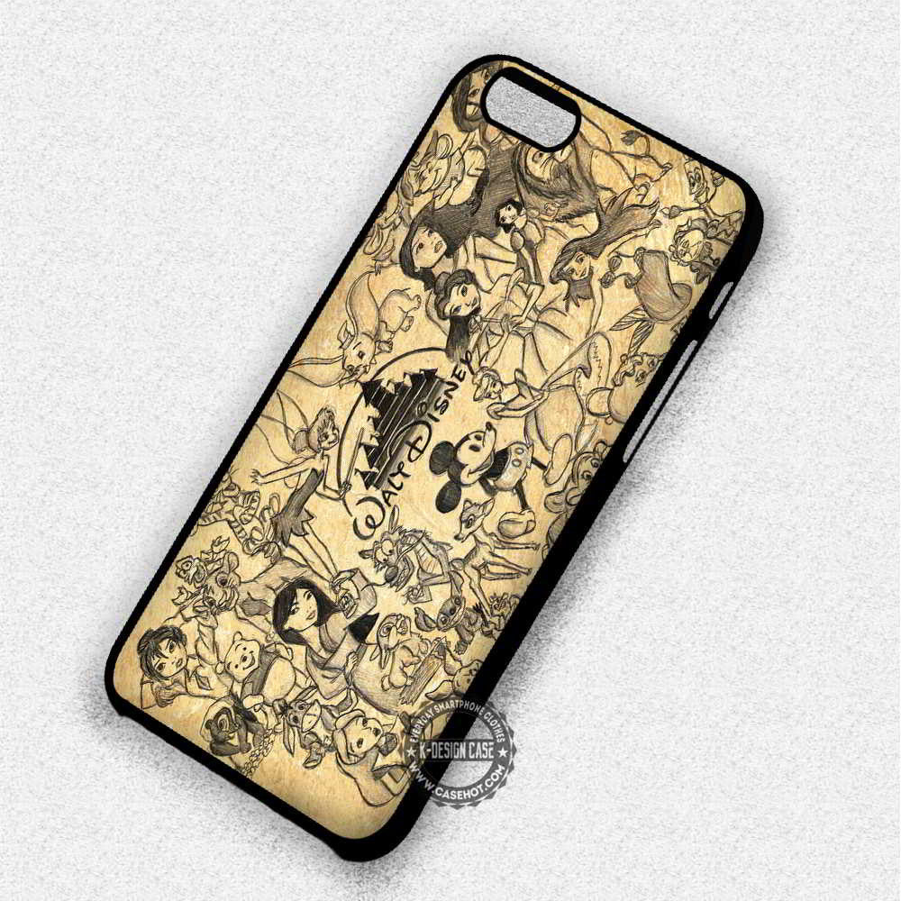 Vintage Collage Design Disney - iPhone 7 6 Plus 5c 5s SE Cases & Covers - Kawung Design  - 1