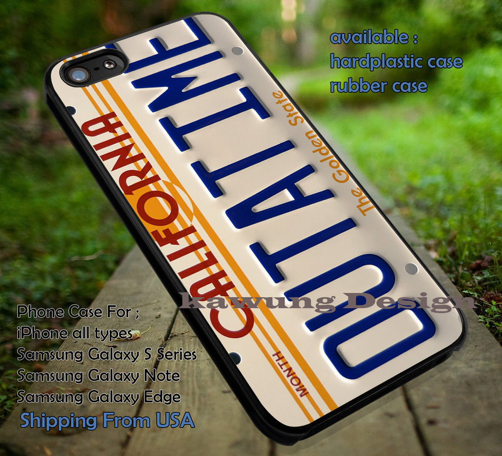 Back To The Future California License Plate Outatime iPhone 6s 6 6s+ 5c 5s Cases Samsung Galaxy s5 s6 Edge+ NOTE 5 4 3 #art dt - Kawung Design  - 1