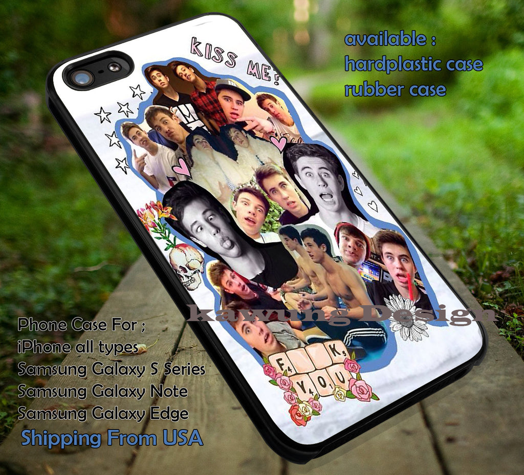 Cameron Dallas n Nash Grier Collage iPhone 6s 6 6s+ 5c 5s Cases Samsung Galaxy s5 s6 Edge+ NOTE 5 4 3 #movie #MagconBoys dt - Kawung Design  - 1