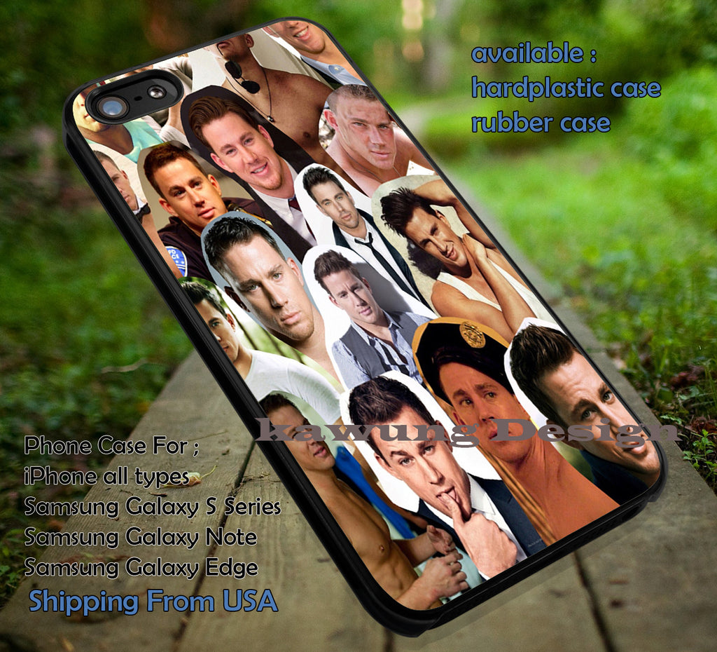 Channing Tatum Collage iPhone 6s 6 6s+ 5c 5s Cases Samsung Galaxy s5 s6 Edge+ NOTE 5 4 3 #movie #actor #cnt dt - Kawung Design  - 4