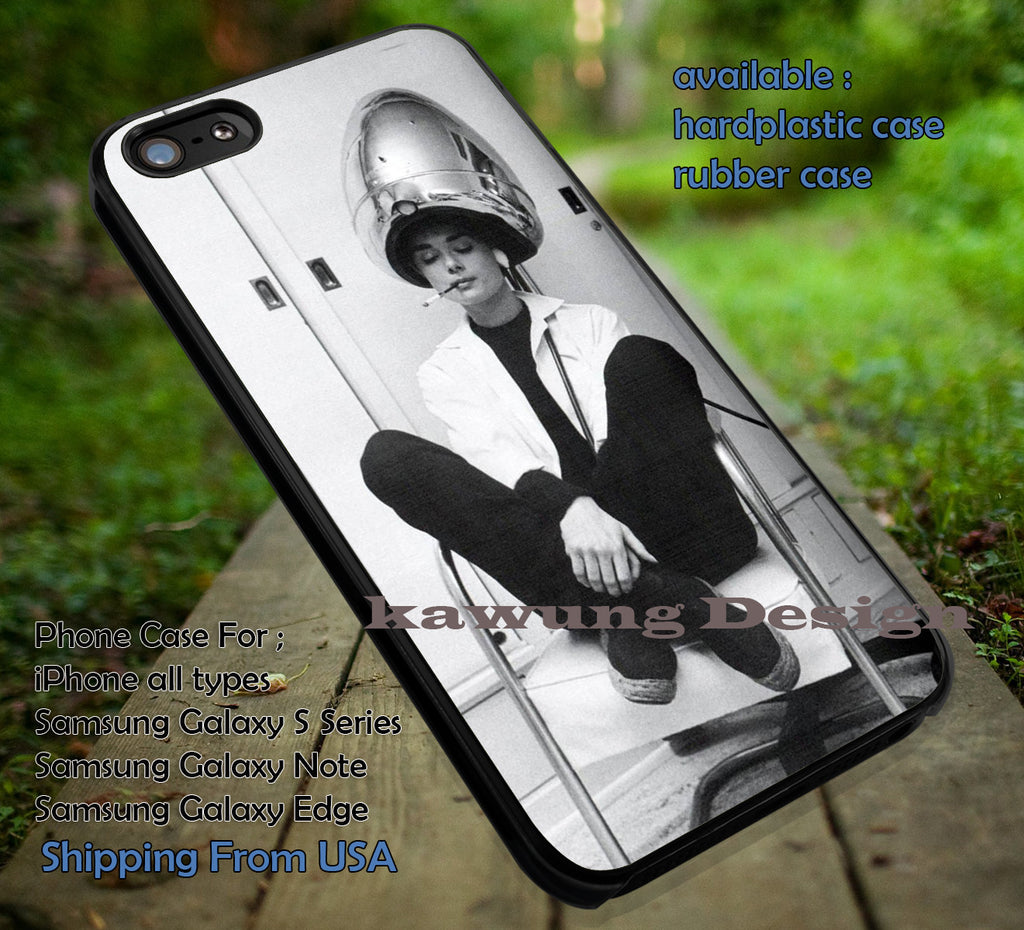 Audrey Hepburn at Salon iPhone 6s 6 6s+ 5c 5s Cases Samsung Galaxy s5 s6 Edge+ NOTE 5 4 3 #movie #actrees #adh dt - Kawung Design  - 1