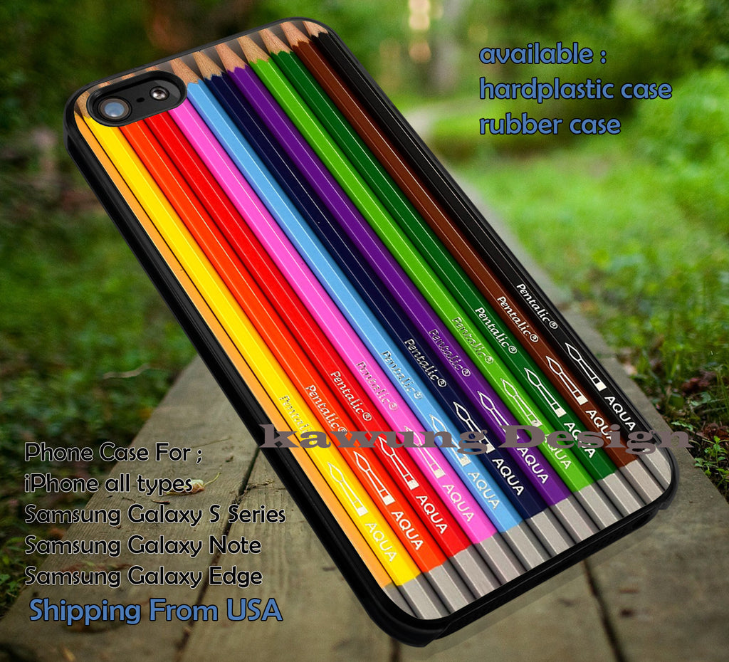 Colorful Pencils Set iPhone 6s 6 6s+ 5c 5s Cases Samsung Galaxy s5 s6 Edge+ NOTE 5 4 3 #art dt - Kawung Design  - 1