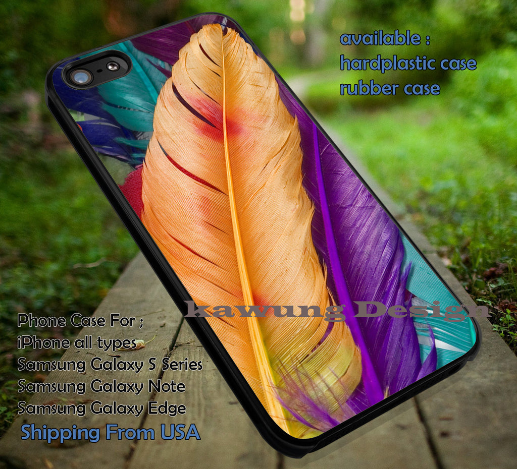 Colorful Feathers Realistic iPhone 6s 6 6s+ 5c 5s Cases Samsung Galaxy s5 s6 Edge+ NOTE 5 4 3 #art dt - Kawung Design  - 1