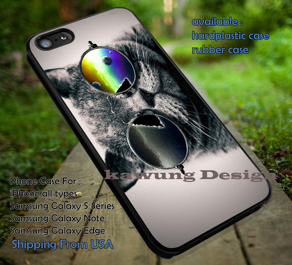 Cool Cat with Glasses iPhone 6s 6 6s+ 5c 5s Cases Samsung Galaxy s5 s6 Edge+ NOTE 5 4 3 #art dt - Kawung Design  - 1