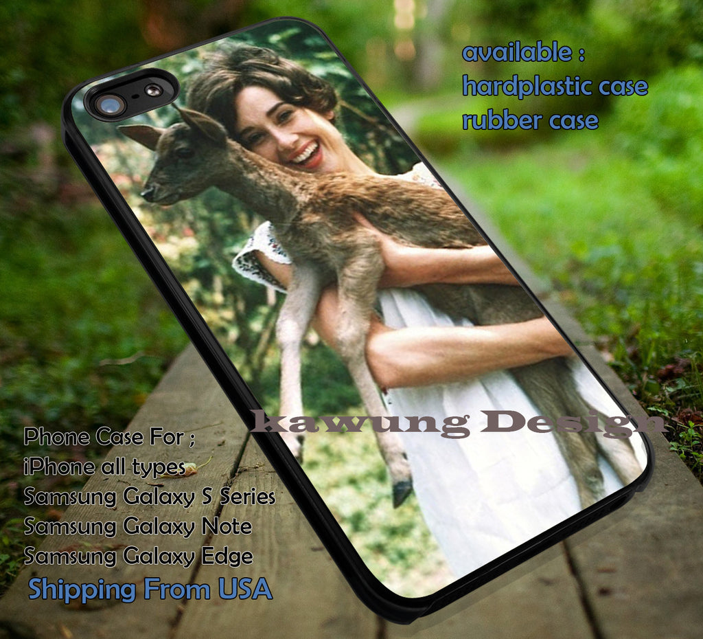 Audrey Hepburn with Deer Der Pet iPhone 6s 6 6s+ 5c 5s Cases Samsung Galaxy s5 s6 Edge+ NOTE 5 4 3 #movie #actrees #adh dt - Kawung Design  - 1