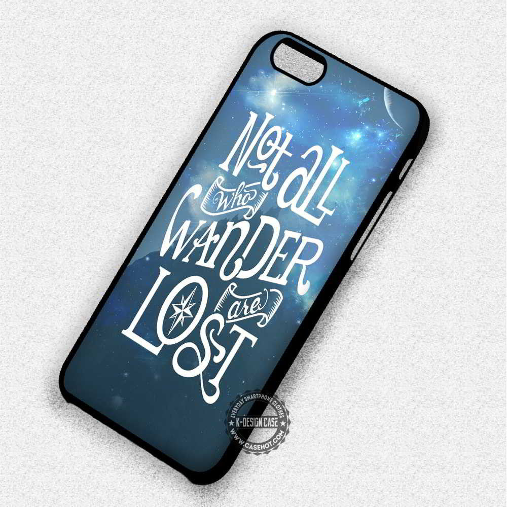 Not All Who Wander are Lost Tolkien - iPhone 7 6 Plus 5c 5s SE Cases & Covers - Kawung Design  - 1