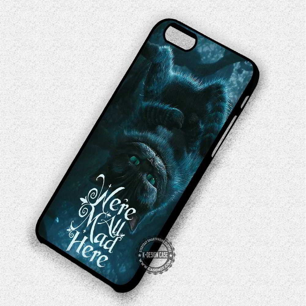 Quote Alice in Wonderland Cheshire Cat - iPhone 6 Plus 5c 5s SE Cases & Covers - Kawung Design  - 1