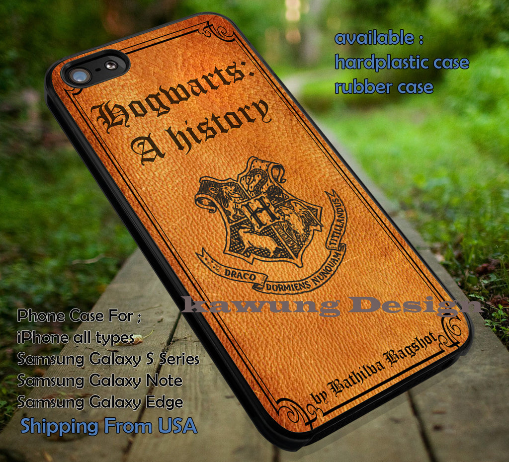 A History Leather Book Harry Potter iPhone X 8+ 7 6s Cases Samsung Galaxy S8 S7 edge NOTE 8 5 4